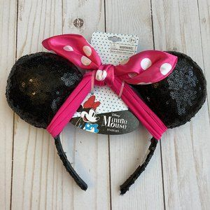 Minnie Mouse Ears w/ Pink Bow (Kids) NWT